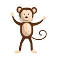 Circus monkey animal cartoon design vector image vector image