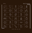 collection of 30 halloween icons in thin line vector image vector image