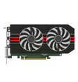 computers video card vector image