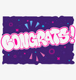 congratulation congrats greeting card flyer poster vector image