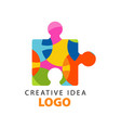 creative idea geometric logo template with vector image