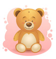 Cute teddy bear children toy vector image