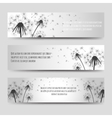 Dandelions and seeds horizontal banners set vector image vector image