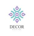 decor original logo design element for company vector image vector image