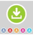 Download upload flat icon button set load symbol vector image vector image