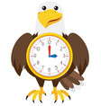 eagle clock white background vector image vector image