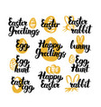 easter hand drawn quotes vector image vector image