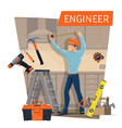 engineer profession construction industry vector image vector image