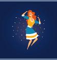 festa junina brazil june festival smiling girl vector image vector image