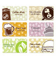 food labels and coupons vector image