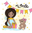 girl miracle valentines day se vector image vector image