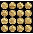 Golden Awards Icon Set vector image