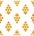 golg textured seamless pattern of grapes vector image