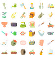 good craft icons set cartoon style vector image vector image