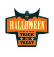 halloween offer design template vector image
