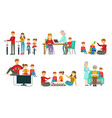 happy family having good time together set vector image vector image