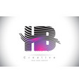 hb h b zebra texture letter logo design with vector image vector image