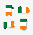 irish flag stickers and labels vector image vector image