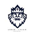king logo design black and white version modern vector image