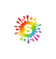 letter splash logo icon design vector image