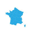 map of france high detailed map - france vector image vector image