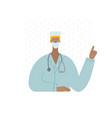 medical doctor nurse pointing finger vector image