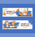 medical massage people set banners vector image vector image