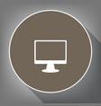 monitor with brush sign white icon on vector image vector image