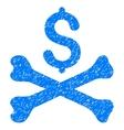 Mortal Debt Grainy Texture Icon vector image