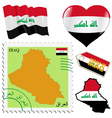 national colours of Iraq vector image