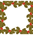 ornament border with leaves Christmas and berrys vector image vector image