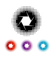 Photography Aperture Logo vector image vector image