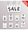 Price Sale Text Tag Symbol Labels Icons Set vector image vector image
