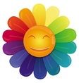 rainbow flower vector image vector image