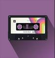 retro vintage cassette tape flat concept vector image