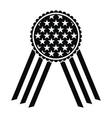 Ribbon rosette in the USA flag icon vector image vector image