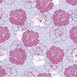 Seamless floral pattern violet pink and white rose vector image