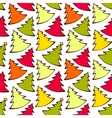 Seamless pattern with colorful Christmas trees vector image vector image