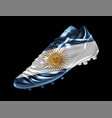 soccer football boot with the flag of argentina vector image vector image