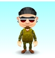 Soldier character vector image vector image