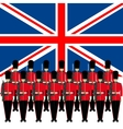 Soldiers Guard of Honour in England vector image vector image