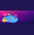 swimming and lifesaving classes concept banner vector image vector image