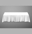 table with tablecloth white vector image vector image