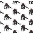 tasmanian devil seamless pattern vector image