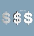 the dollar symbol has three types vector image
