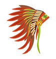 tribal hat with long feathers as attribute vector image vector image