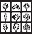 vector trees vector image vector image