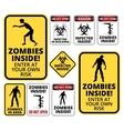 zombie inside vector image