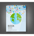 Book design technology vector image