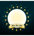 Retro lights banners vector image